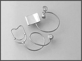silver medical instruments